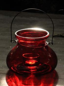 Windlicht rot