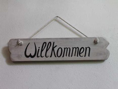 """Türschild """"Willkommen"""""""